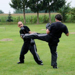 Massimo kicking Andrea